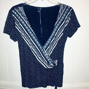 Lucky Brand Tops - 🆕 Lucky Brand Side Tie Wrap Top Shirt size Small